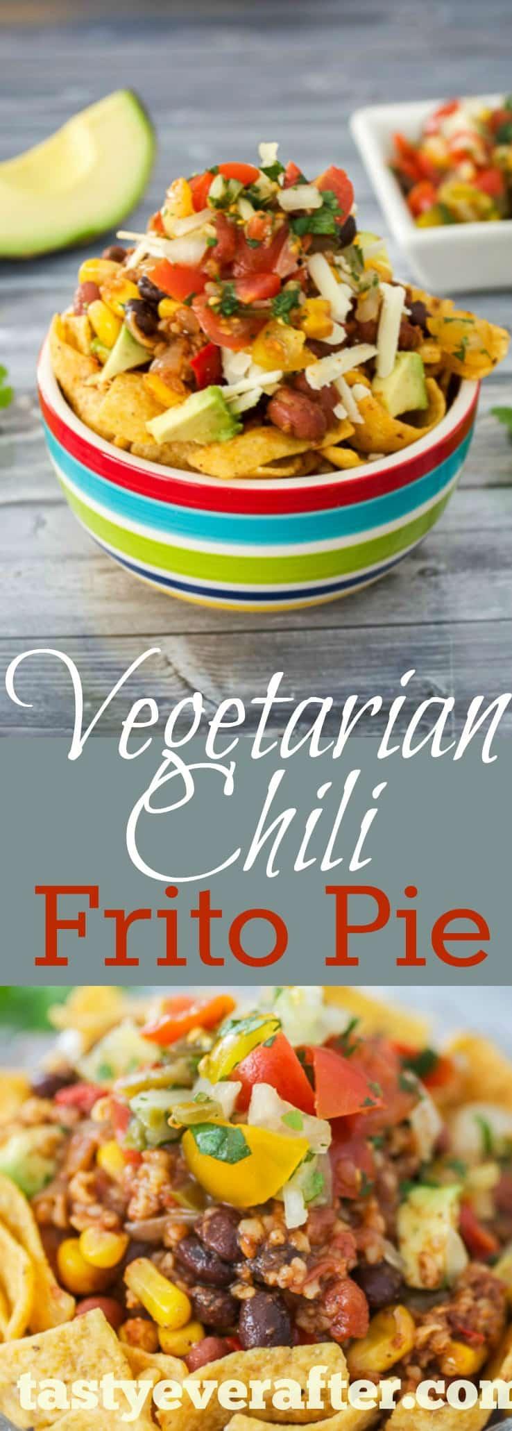 Vegetarian Chili Frito Pie