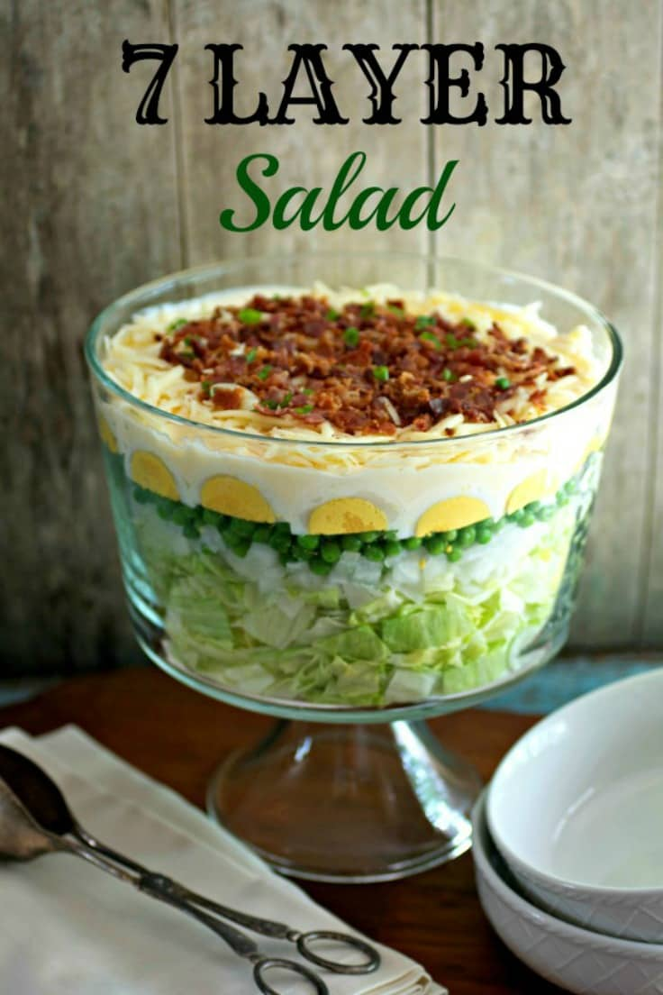 easy 7 layer salad southern classic tasty ever after