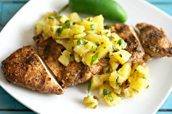 Barbecued Jerk Chicken With Pineapple Salsa Recipe — Dishmaps