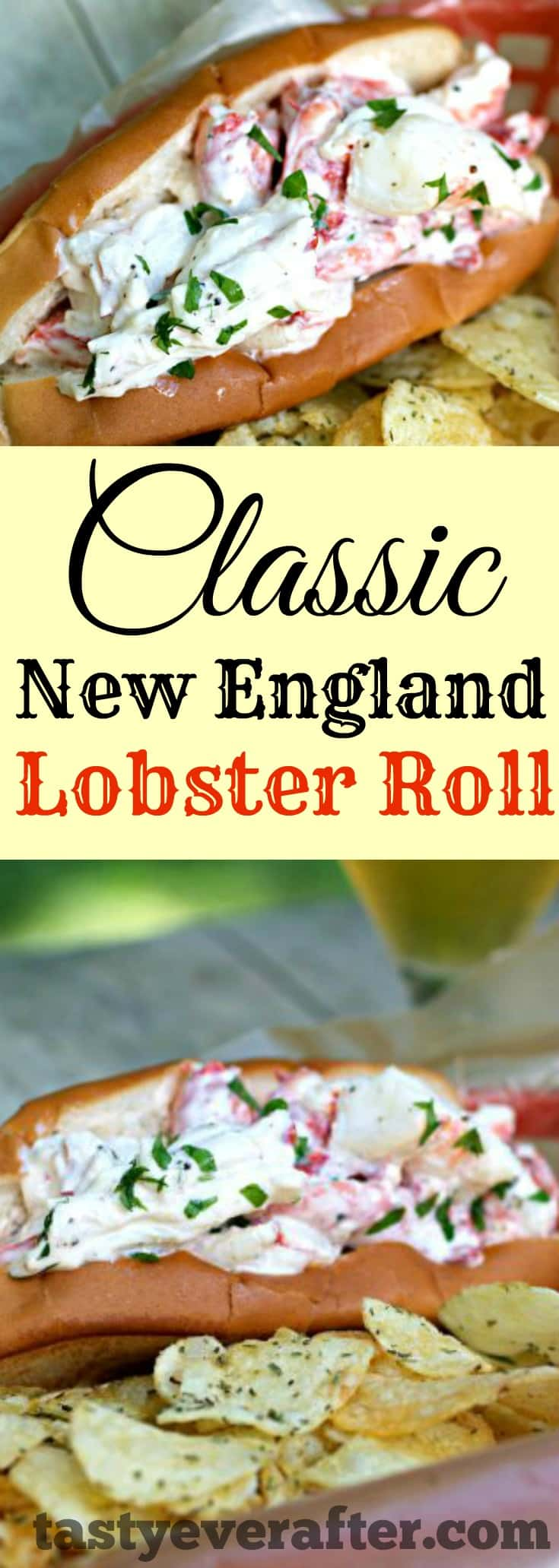 The taste of summer in a classic New England lobster roll