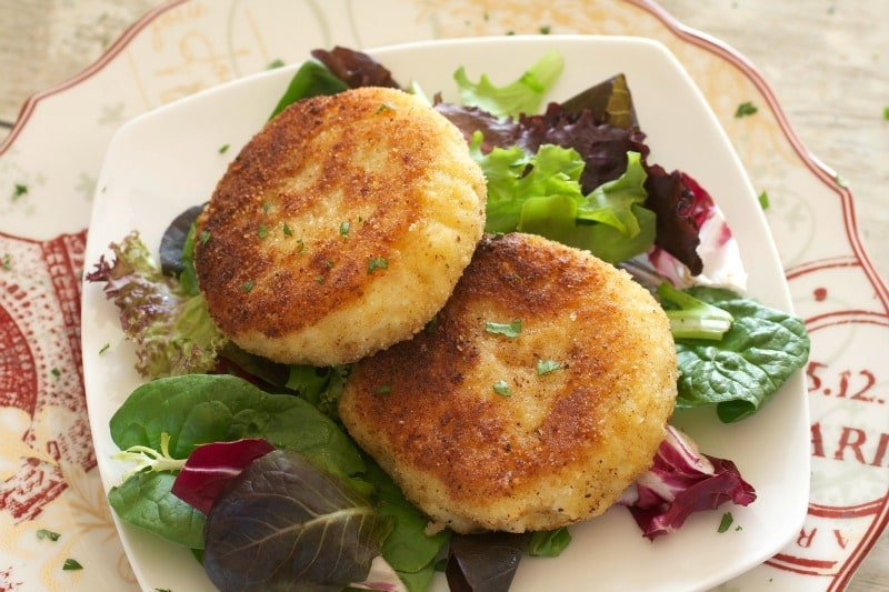 This quick recipe for Easy Risotto Cakes uses just 5 ingredients and ...