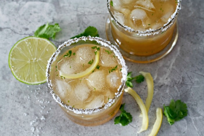 ... supremely good for you drink… Preserved Lemon Spicy Margarita