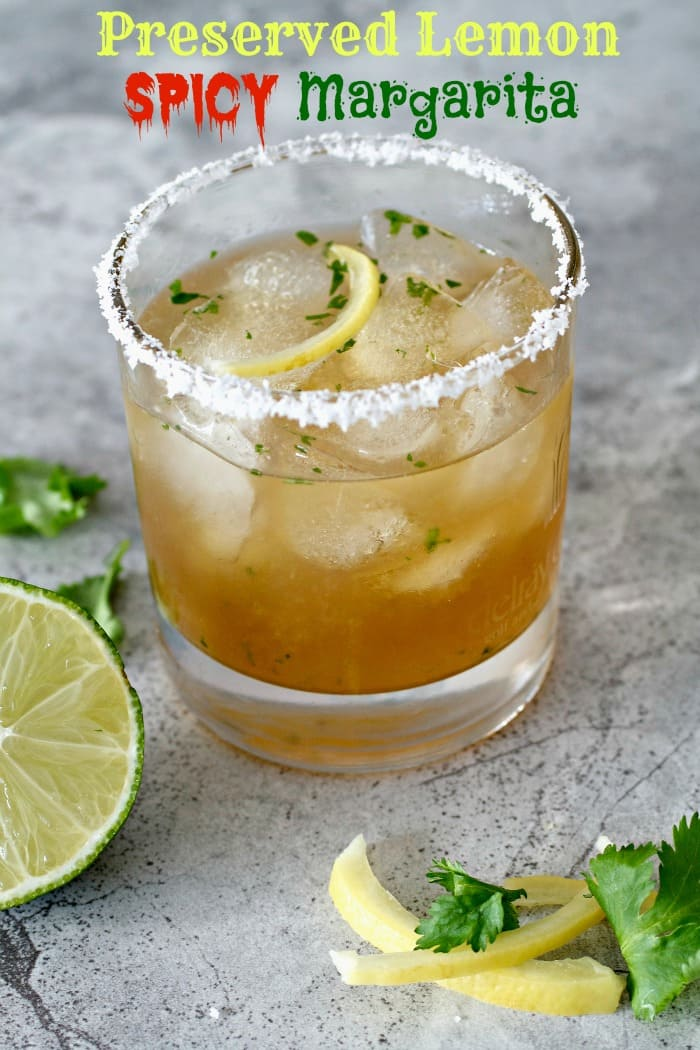 Preserved Lemon Spicy Margarita - Tasty Ever After
