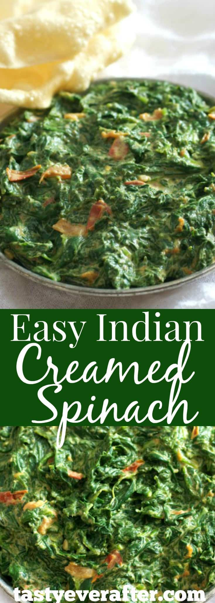 Easy Indian Creamed Spinach