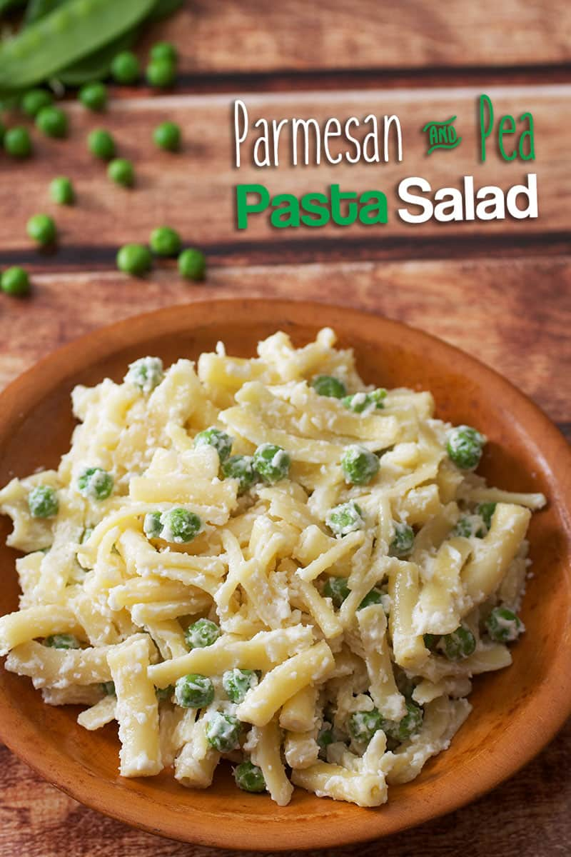 Parmesan Pea Pasta Salad