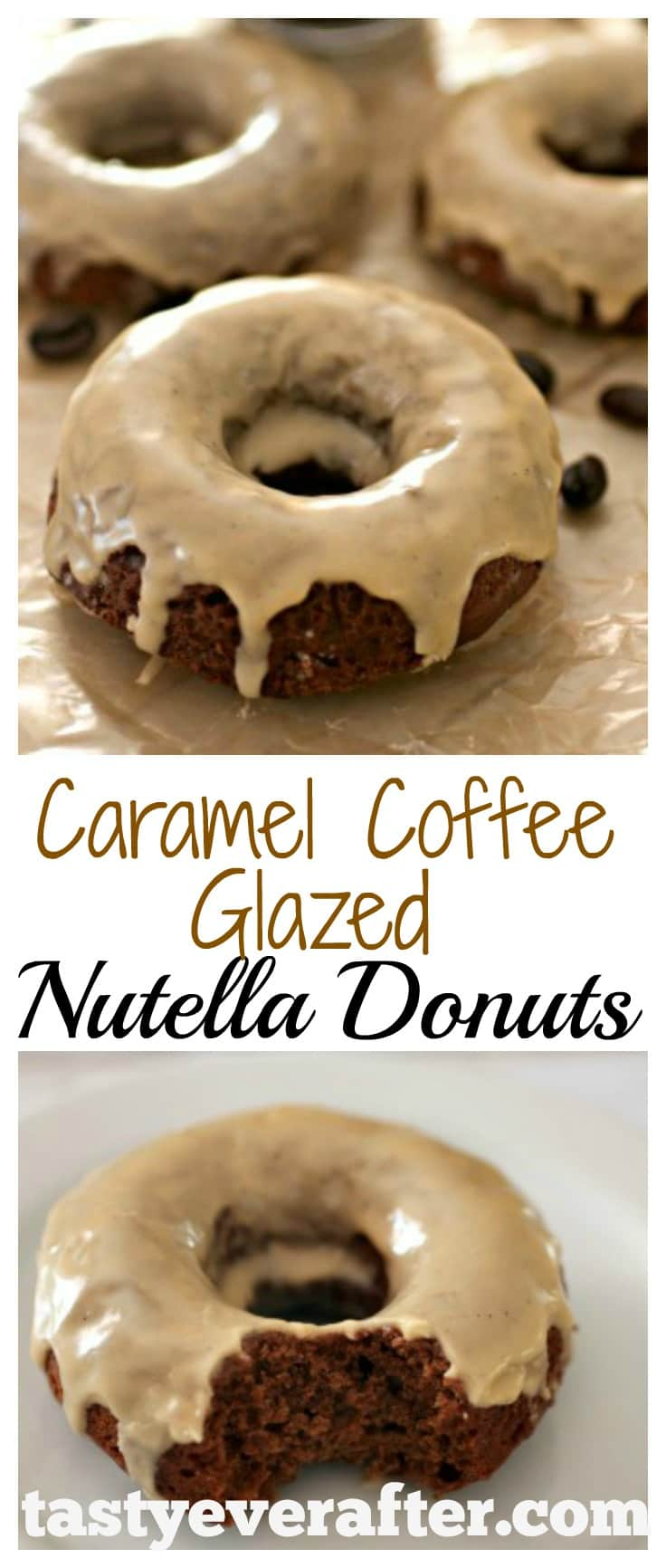 Caramel Coffee Glazed Nutella Donuts