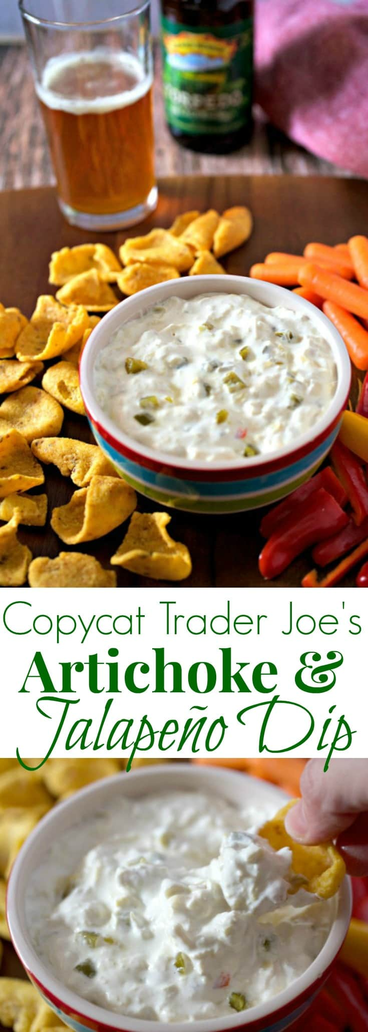 Copycat Trader Joe's Artichoke and Jalapeño Dip