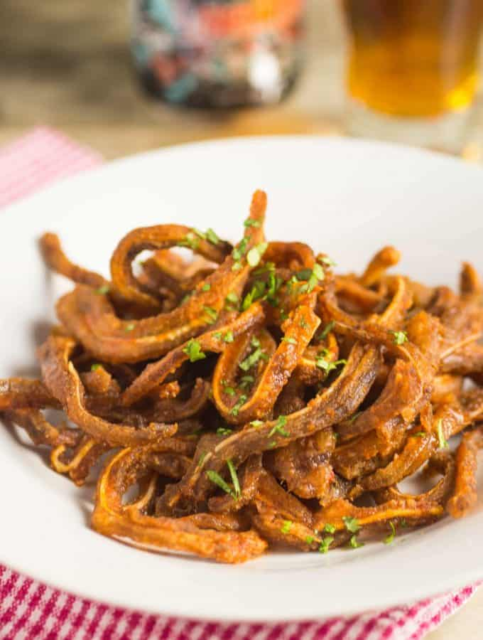 WTF?! A Crunchy Buffalo Pig Ear Strips Recipe