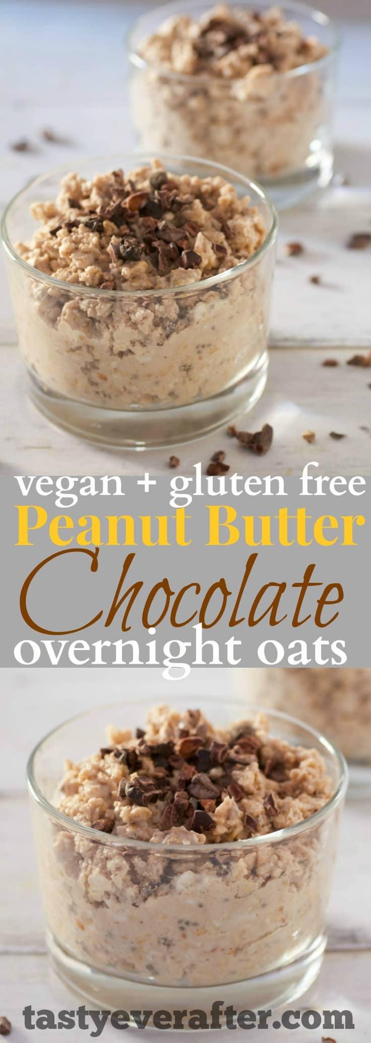Peanut Butter Chocolate Overnight Oats Recipe