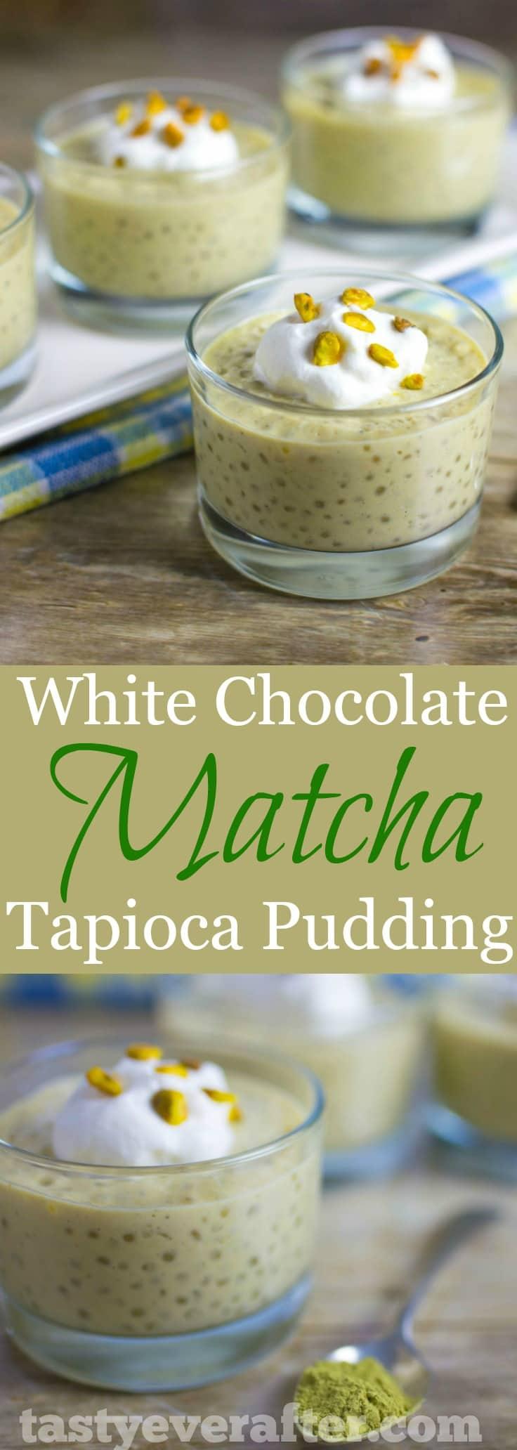 White Chocolate Matcha Tapioca Pudding Recipe