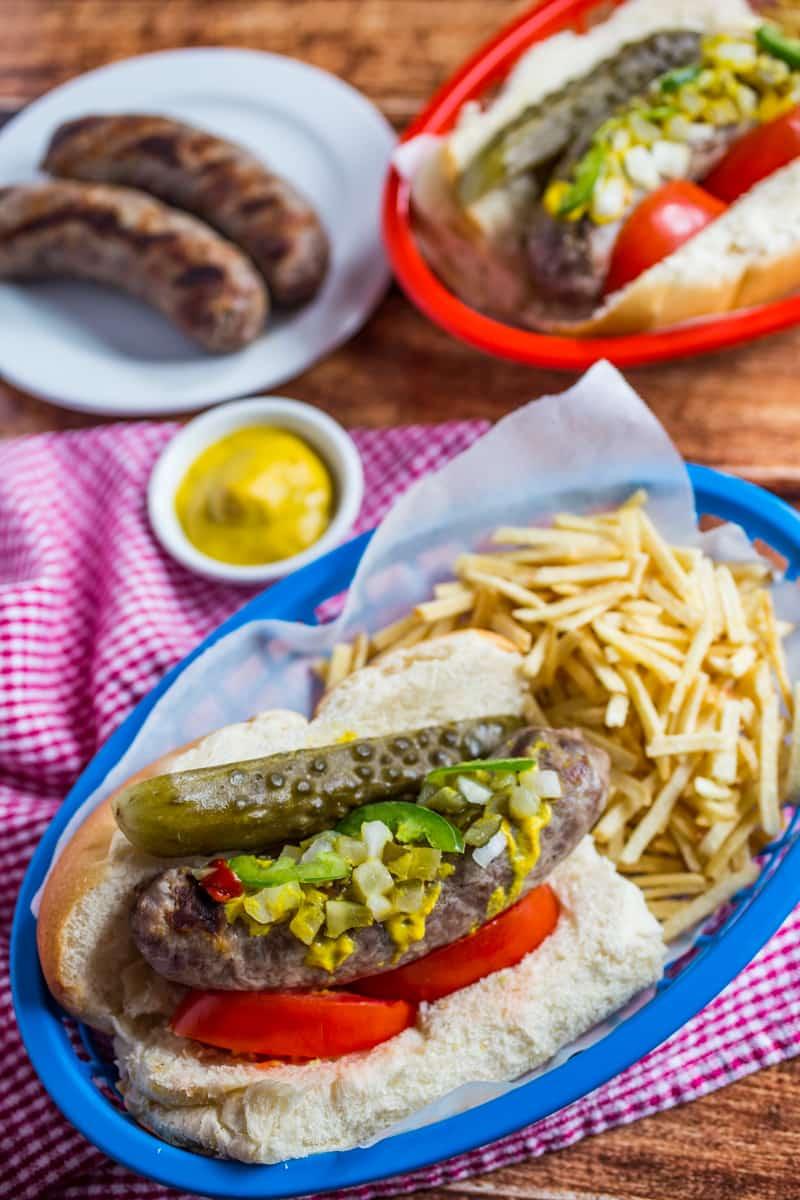 Chicago-Style Brats Recipe   Real Food Recipes   Easy Recipes ...