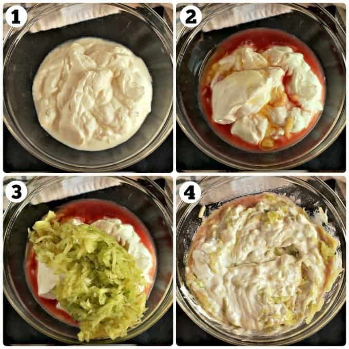 Step by step pictures on how to make Tzatziki