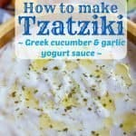 Tzatziki Sauce Recipe PIN