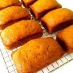 Easy pumpkin bread loaves cooling on a rack