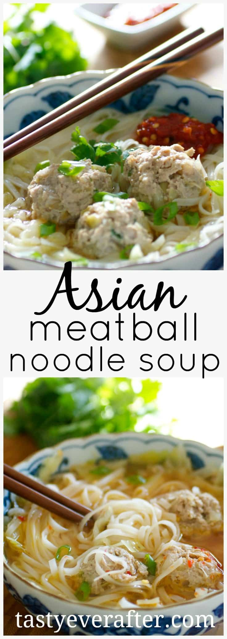 Asian Meatball Noodle Soup