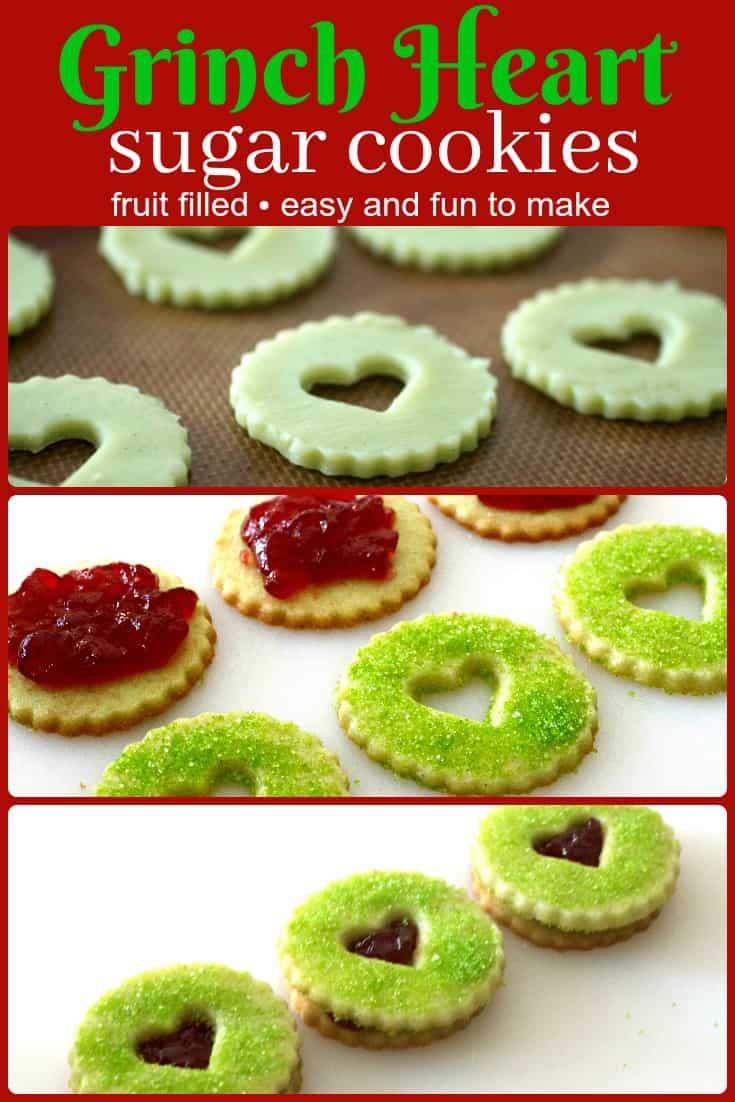 Grinch Heart Sugar Cookies Recipe Pinterest PIN