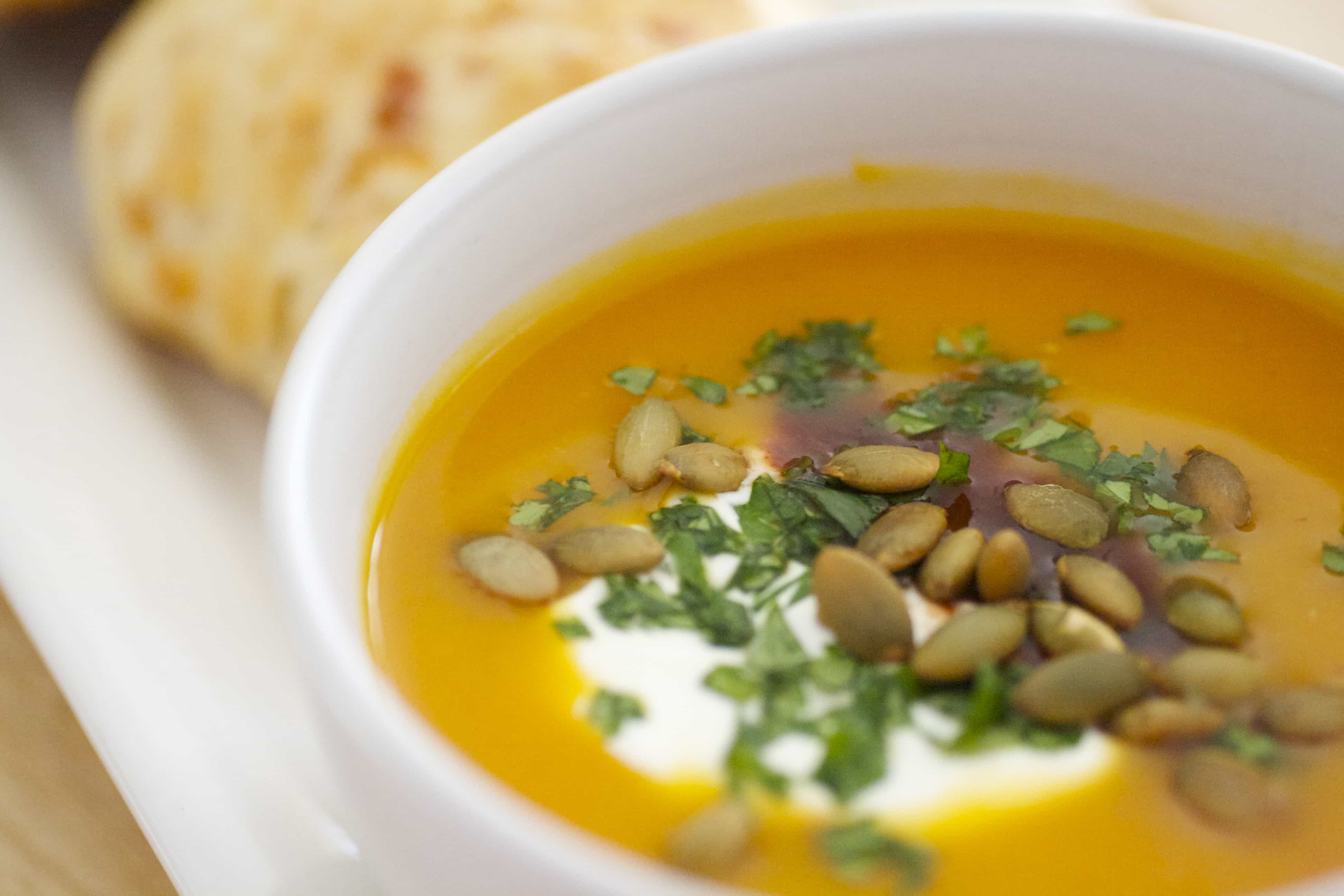 Spicy Chipotle Butternut Squash Soup Recipe - Tasty Ever After