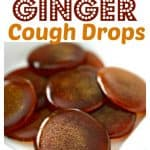 Pinterest PIN for homemade honey lemon ginger cough drops