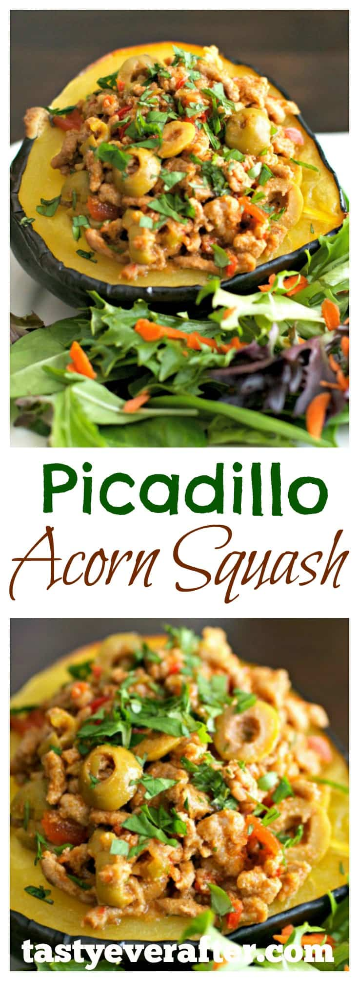 picadillo stuffed acorn squash