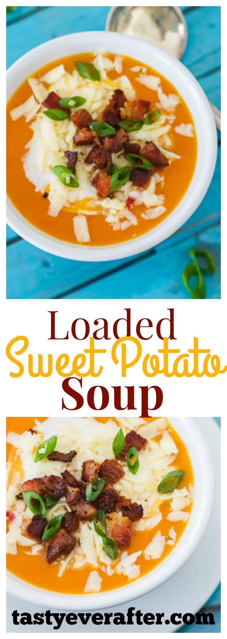 Loaded Sweet Potato Soup