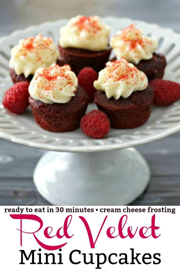 Mini Red Velvet Cupcakes Pinterest PIN