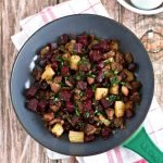 Paleo Red Flannel Hash in a frying pan