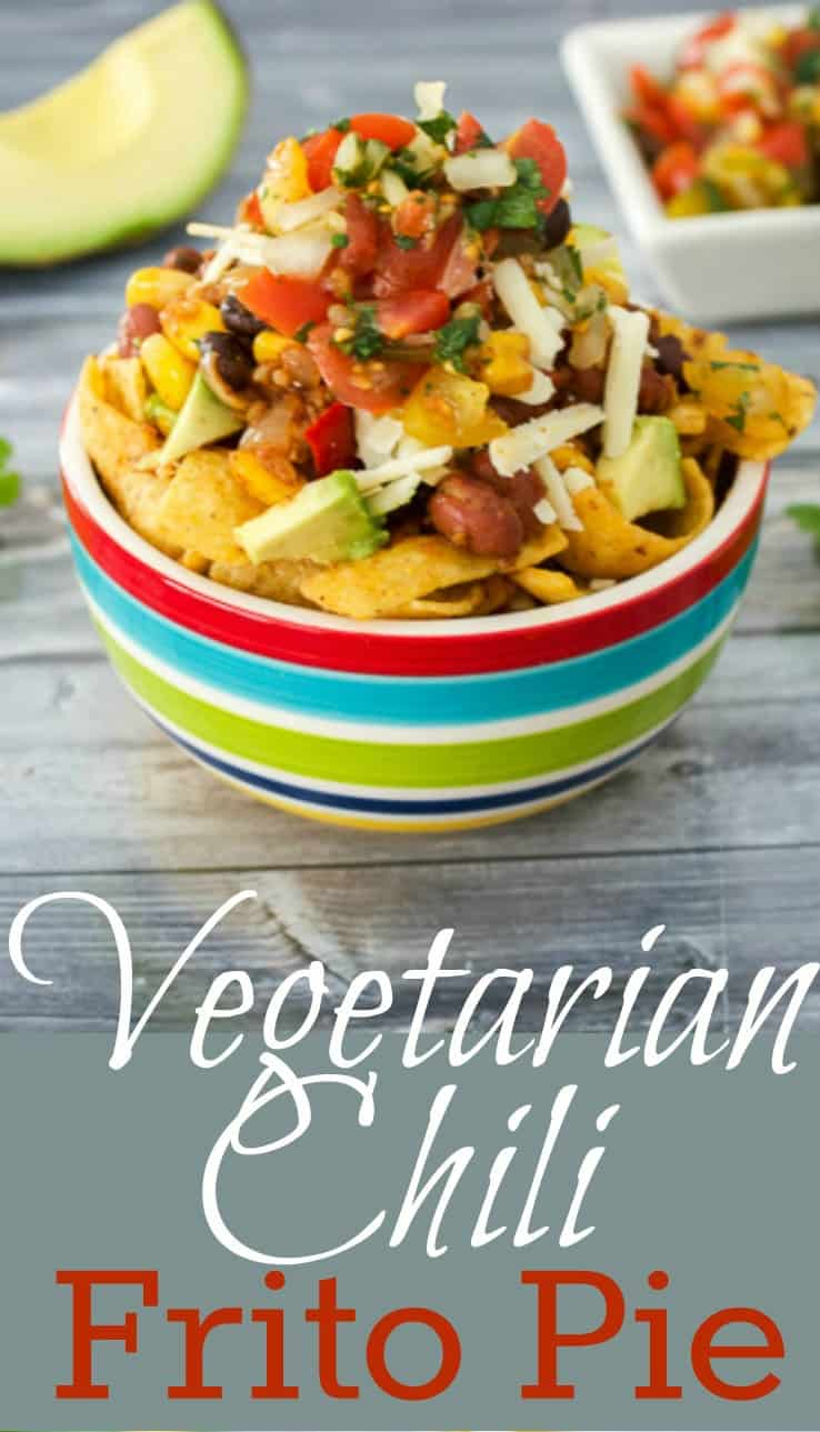 Frito Pie made with vegetarian chili Pinterest PIN