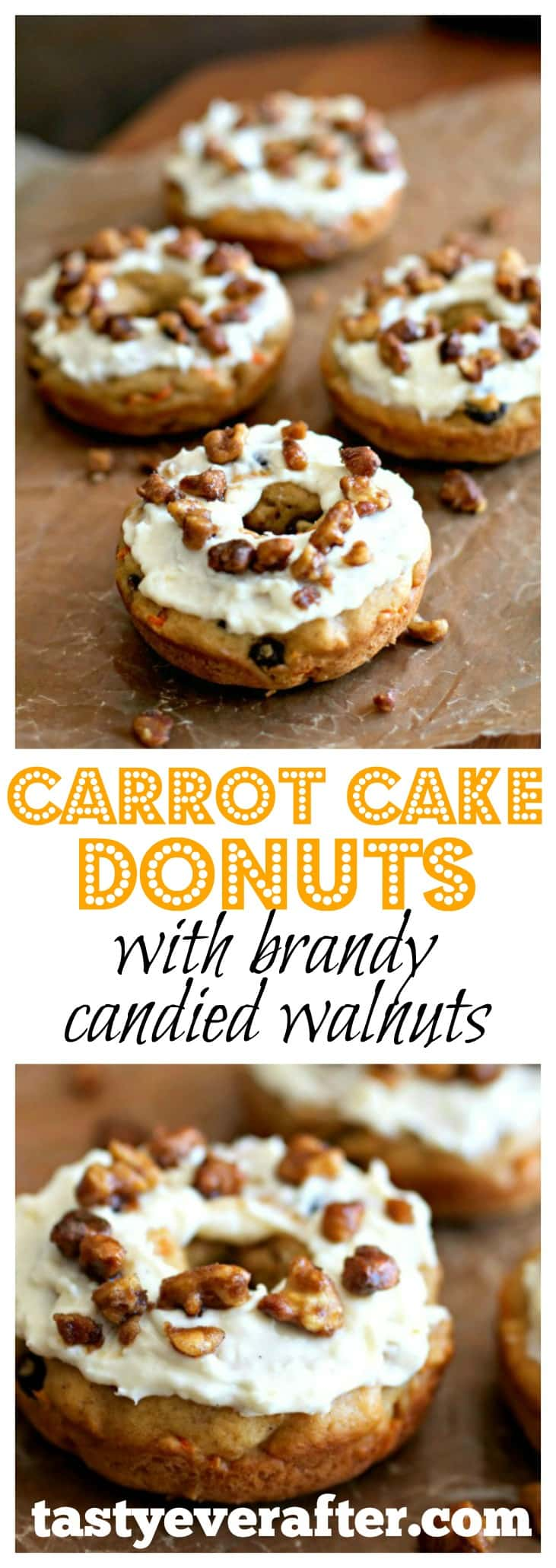 Carrot Cake Donuts With Brandy Candied Walnuts