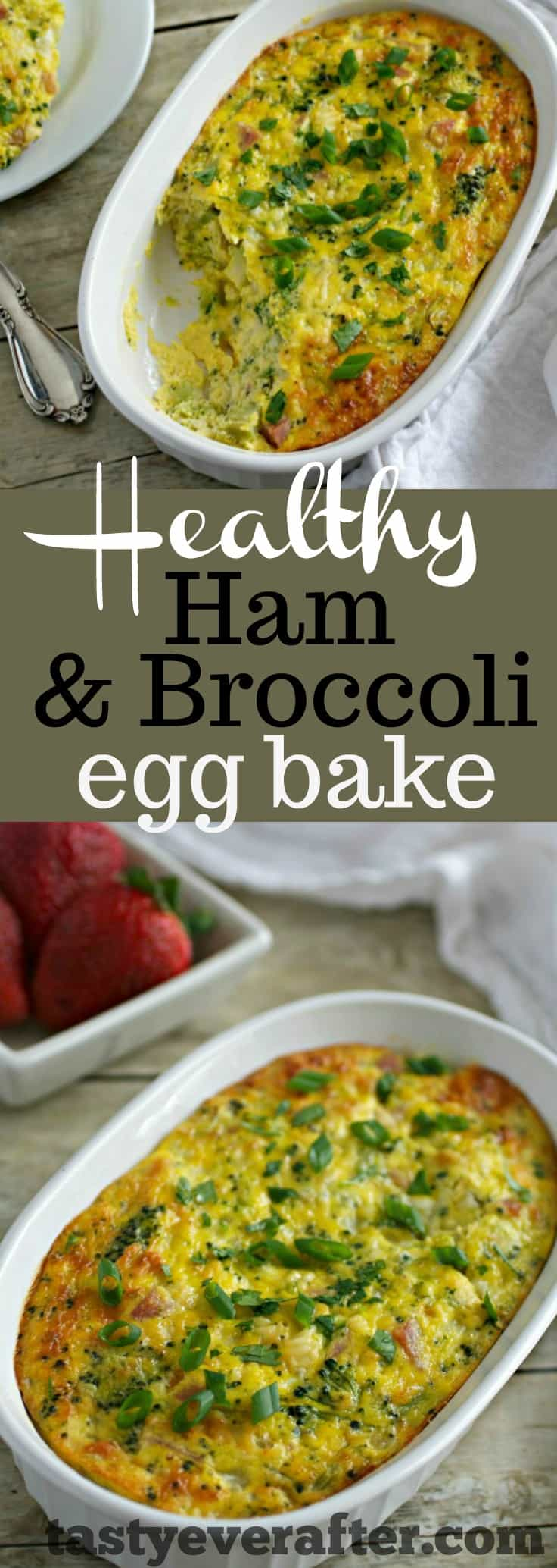Healthy Ham and Broccoli Egg Bake Recipe