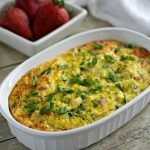 Healthy Ham and Broccoli Egg Bake