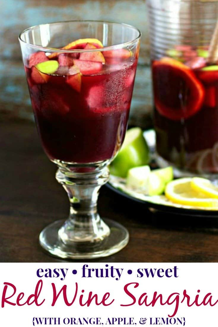 Red Wine Sangria Pinterest PIN