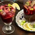 A glass of fruity Red Wine Sangria