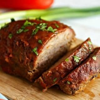 Smoked Meatloaf on a cutting board