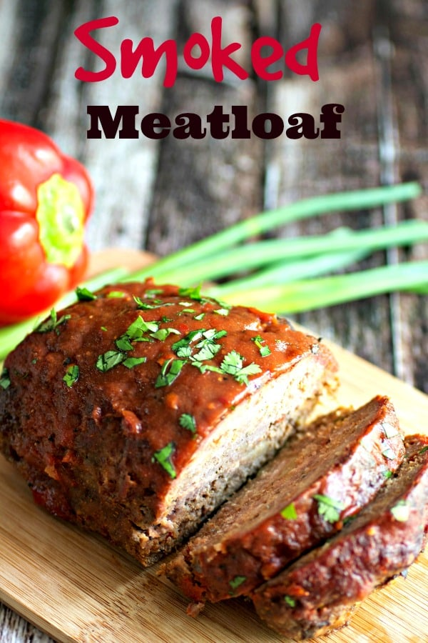 Photo of sliced smoked meatloaf