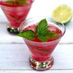 RaspberryLimeBasilGinCocktail31 150x150 - Refreshing Limoncello Champagne Cocktail Recipe with Ginger Liqueur