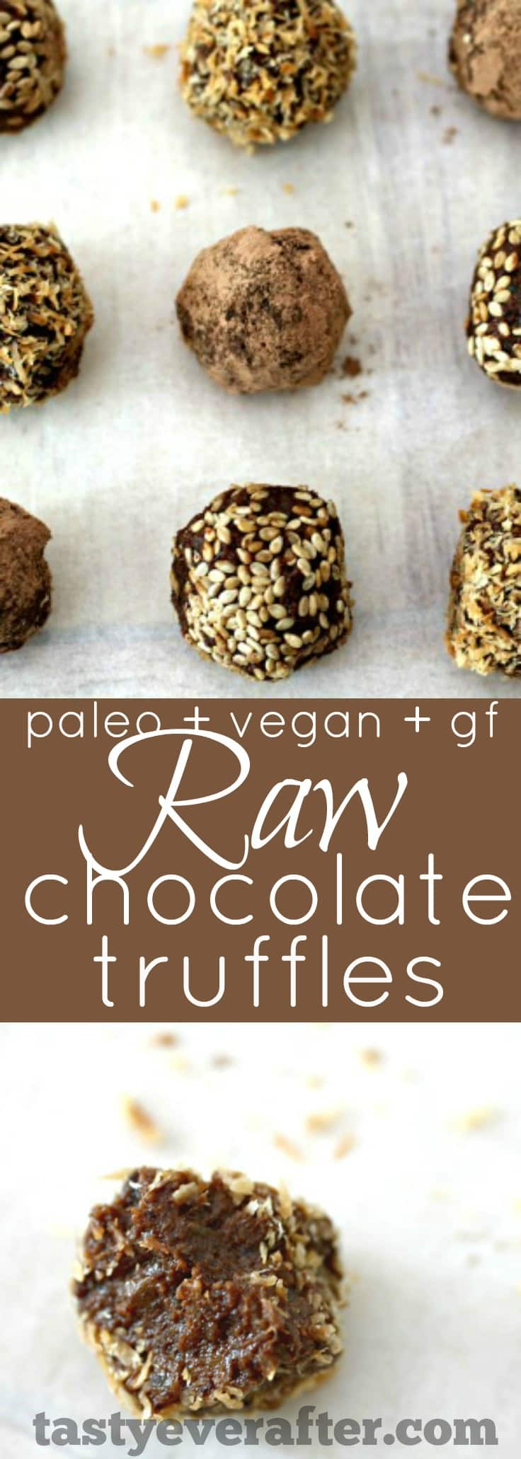 Raw Chocolate Truffles Recipe pinterest PIN