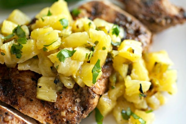 Easy Jerk Chicken with Pineapple Salsa