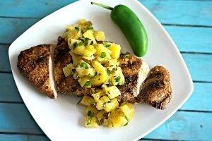 jerkchickenpineapplesalsa31 300x200 - Easy Jerk Chicken with Grilled Pineapple Salsa