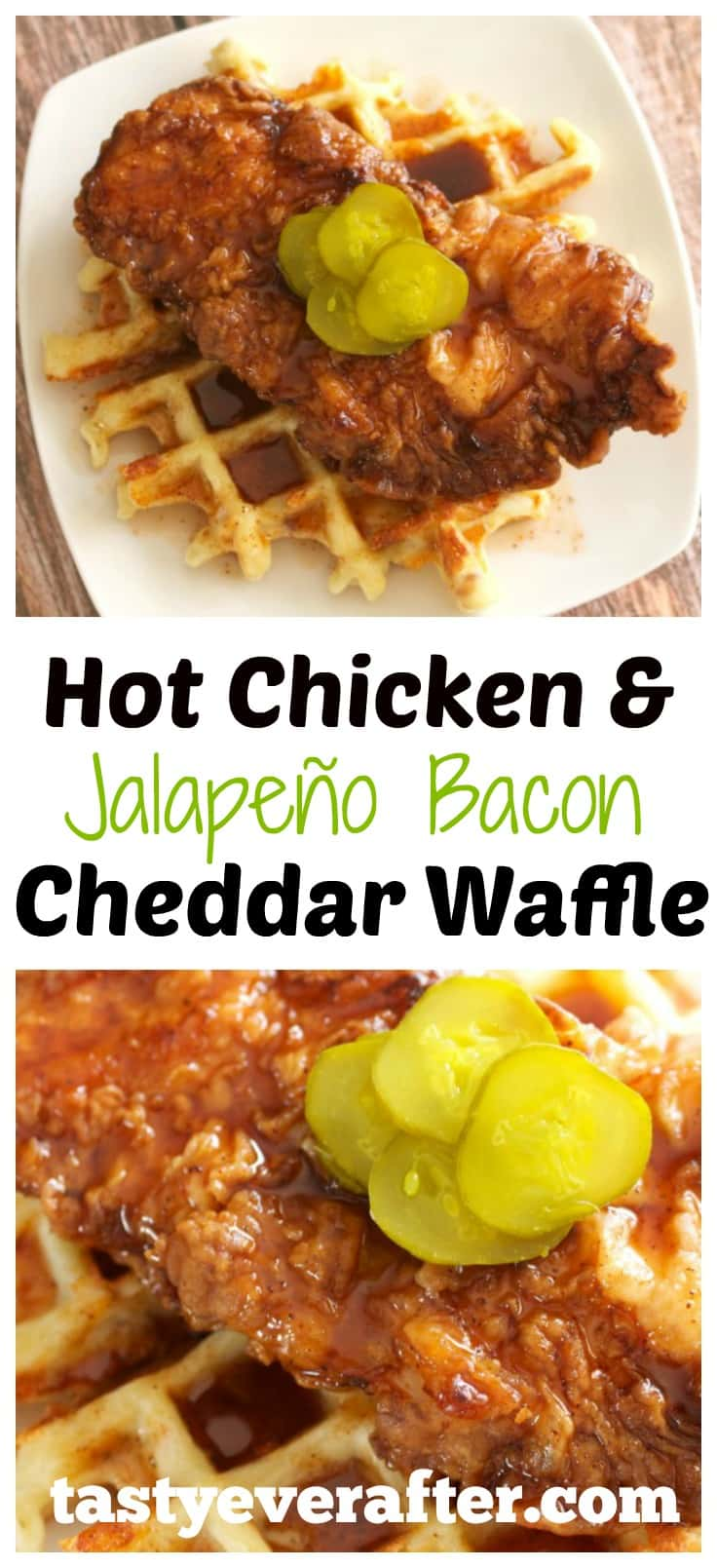 Hot Chicken and Jalapeno Bacon Cheddar Waffle