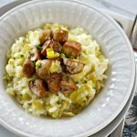 Leek Risotto with Gouda and Smoked Mushrooms