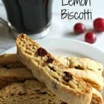 Cranberry Lemon biscotti recipe Pinterest PIN