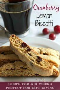 Cranberry Lemon biscotti recipe Pinterest PIN