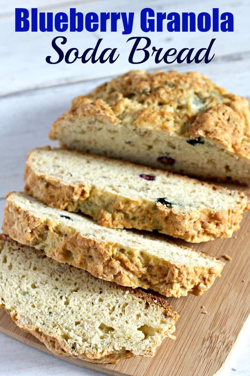 Pinterest PIN for a Blueberry Granola Soda Bread recipe