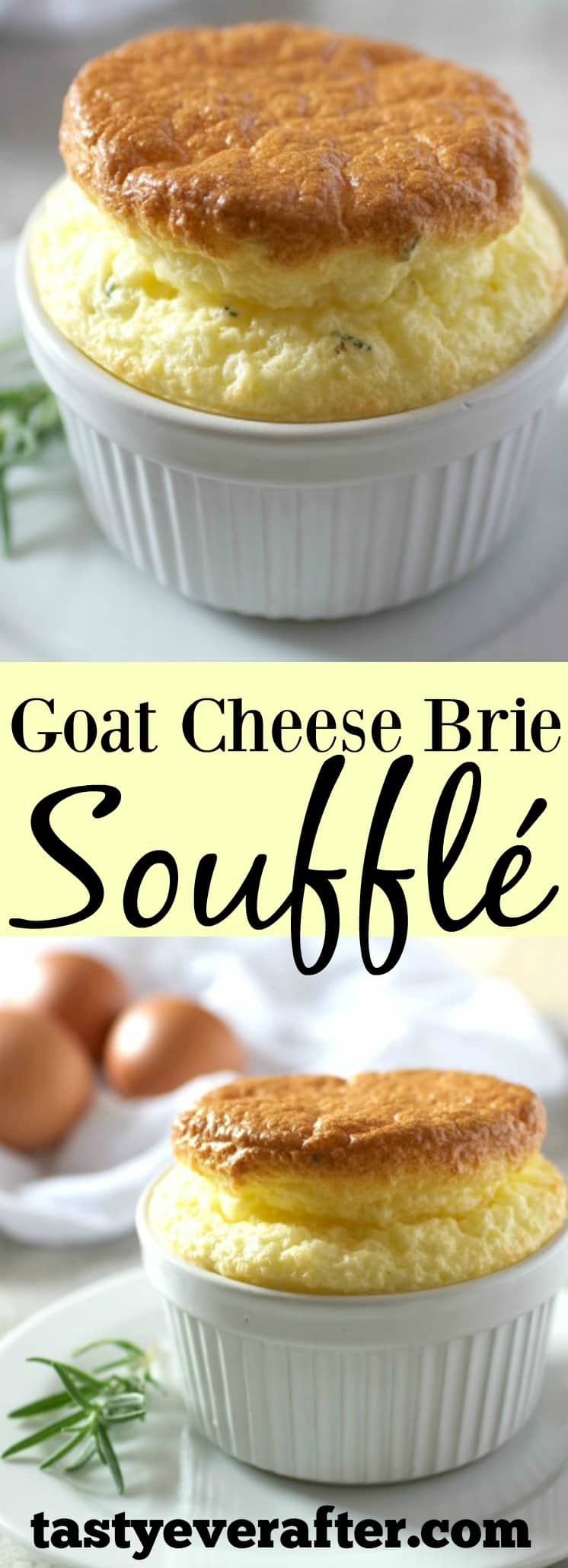 Goat Cheese Brie Souffle