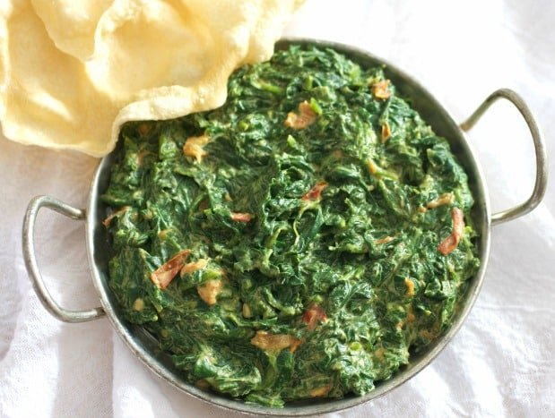 Easy indian creamed spinach vegetarian recipe tasty ever after easy indian creamed spinach forumfinder Gallery