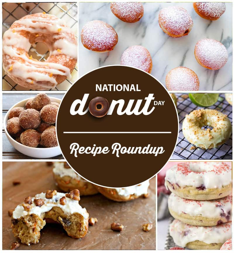 Donut Day Roundup - National Donut Day Recipe Roundup