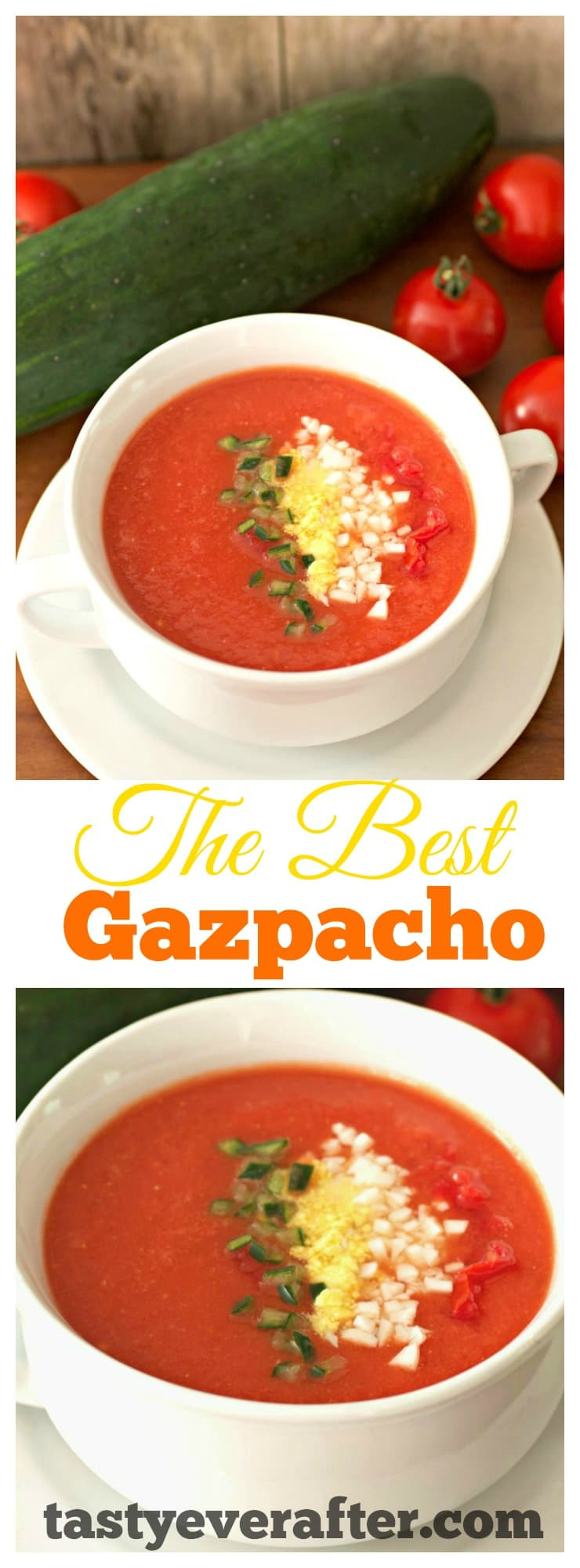 Gazpacho soup recipe Pinterest PIN