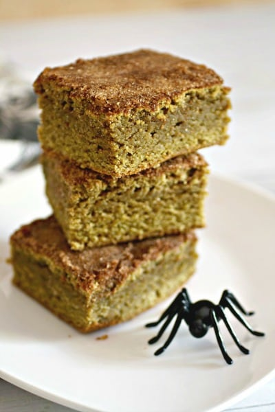 Matcha Snickerdoodle Blondies