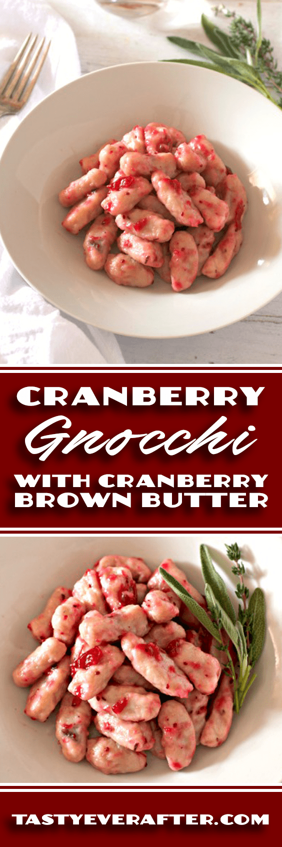 Cranberry Gnocchi with Cranberry Brown Butter