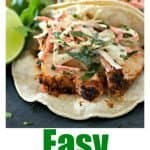 Easy FIsh Tacos Pinterest PIN